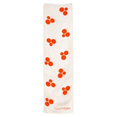 1970 Red Dots Courreges Silk Scarf