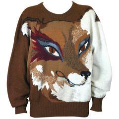 Krizia Wily Fox Sweater, Animal Series