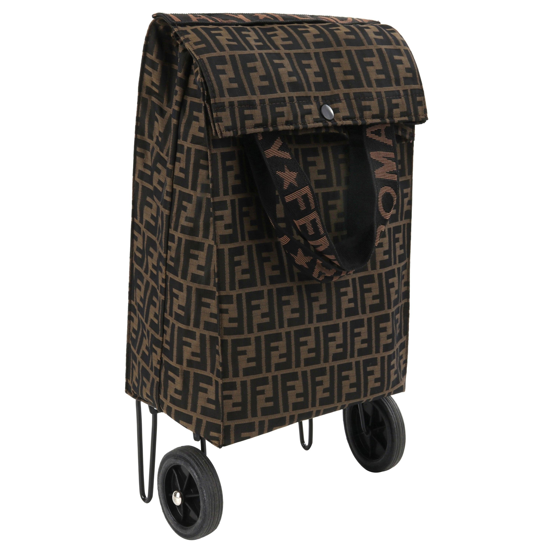 "FENDI c.1980s ""Jolly Trailer"" Multiway Monogram Canvas Soft Cover Luggage Bag"