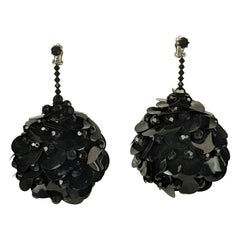 Massive Mod Sequin Ball Earrings