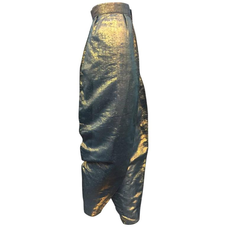 1978 Kansai Yamamoto Cotton and Lame Harem-Style Pants in Fire Opal Colors
