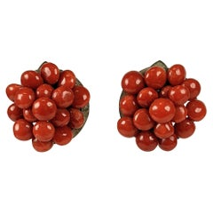 Italian Red Coral Clips