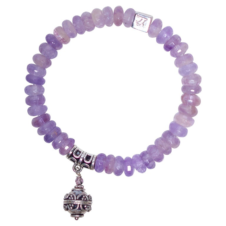 Purple Amethyst Serenity Bracelet For Sale