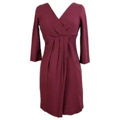 Max & Co Burgundy Viscose A Line Sheath Dress