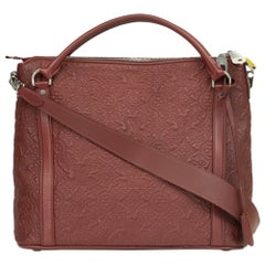 Antheia in burgundy leather