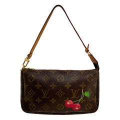 Louis Vuitton Limited Edition Monogram Cerises Murkami Pochette Bag, 2005.