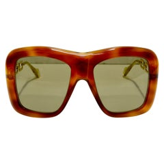 Gucci Havana Oversized Sunglasses