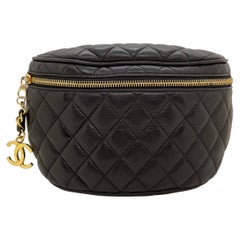 Chanel Quilted Lambskin Waist Belt Bum Bag with Gold Hardware, 1985.