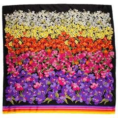 Gucci Dégradé Floral Silk Scarf
