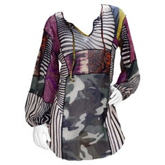 Jean Paul Gaultier 2000s Patchwork Mesh Mini Dress