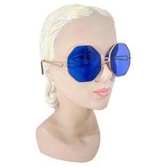 1930s Art Deco Cobalt Blue Sunglasses