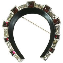 Trifari Art Deco Horseshoe Brooch