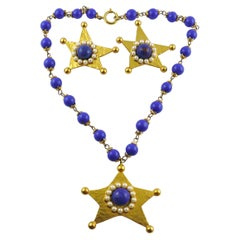 Moschino Vintage Star Necklace and Earrings Set