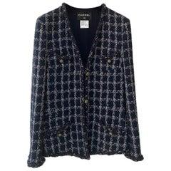 Chanel Blue Ecru Wool Blend Tweed Paris-Dallas Jacket