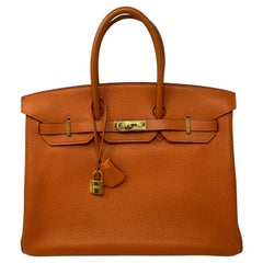 Hermes Birkin Orange 35 Bag