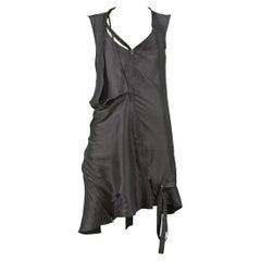 Hussein Chalayan Medea Green Zipper Deconstructed Runway Dress 2002
