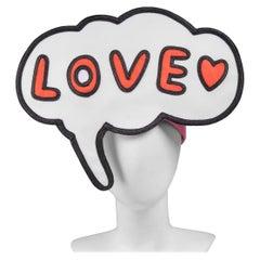 Issey Miyake Pleats Please ''Love'' Cartoon Emoji Hat