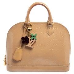 Louis Vuitton Rose Florentine Monogram Vernis Alma PM Bag