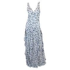 Women's Ralph Lauren Collection Blue & White Dress