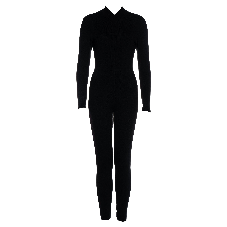 Azzedine Alaia black wool blend catsuit, fw 1991