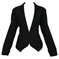 Azzedine Alaia Black Wool Fitted Blazer 1991