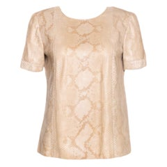 NEW Gucci Exotic Snakeskin Leather Top Shirt