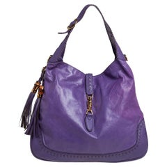 Gucci Purple Leather New Jackie Hobo