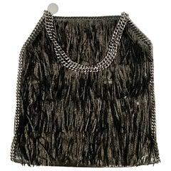 Stella McCartney Fringe Metallic Black Falabella Bag