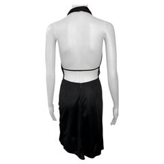 Azzedine Alaïa c. 1990's Vintage Halter Backless Black Midi Dress
