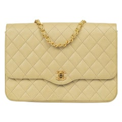 Chanel, Vintage in beige leather