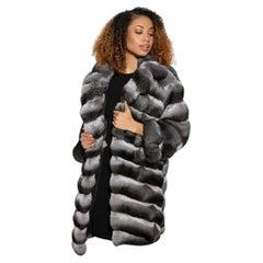 Brand new chinchilla fur coat size M