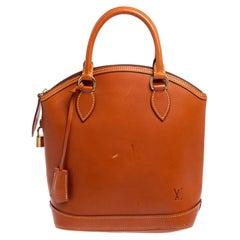 Louis Vuitton Caramel Nomade Leather Vertical Lockit Bag