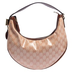 Gucci Pink GG Crystal Coated Canvas Duchessa Hobo Bag