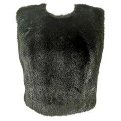 Comme des Garcons Robe de Chambre Fitted Faux Fur Vest AD1997