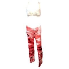 Jean Paul Gaultier 1990's Vintage Abstract People Print Pants