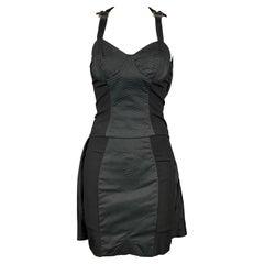 Vintage JEAN PAUL GAULTIER Size 4 Black Polyester / Cotton Skirt Suit