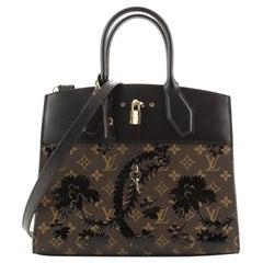 Louis Vuitton City Steamer Handbag Limited Edition Blossom Monogram Canvas
