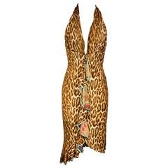 YIGAL AZROUEL Size S Brown & Tan Animal Print Rayon / Silk Sleeveless Dress