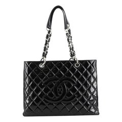 Chanel Grand Shopping Tote Quilted Patent