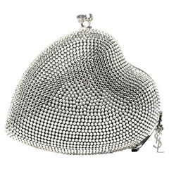 Saint Laurent Love Box Swarovski Crystal Heart Limited Edition Clutch (484049)