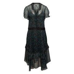 Coach Black & Multicolor 1941 Floral Print Dress