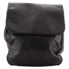 Chanel Vintage CC Flap Backpack Leather Medium