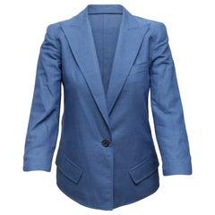 Smythe Blue Peaked Lapel Blazer