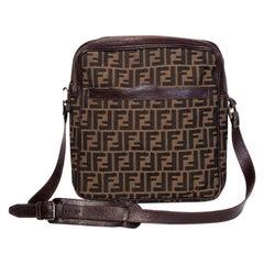 Fendi Vintage Cloth Zucca Crossbody Bag