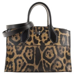 Louis Vuitton City Steamer Handbag Wild Animal Print Canvas EW