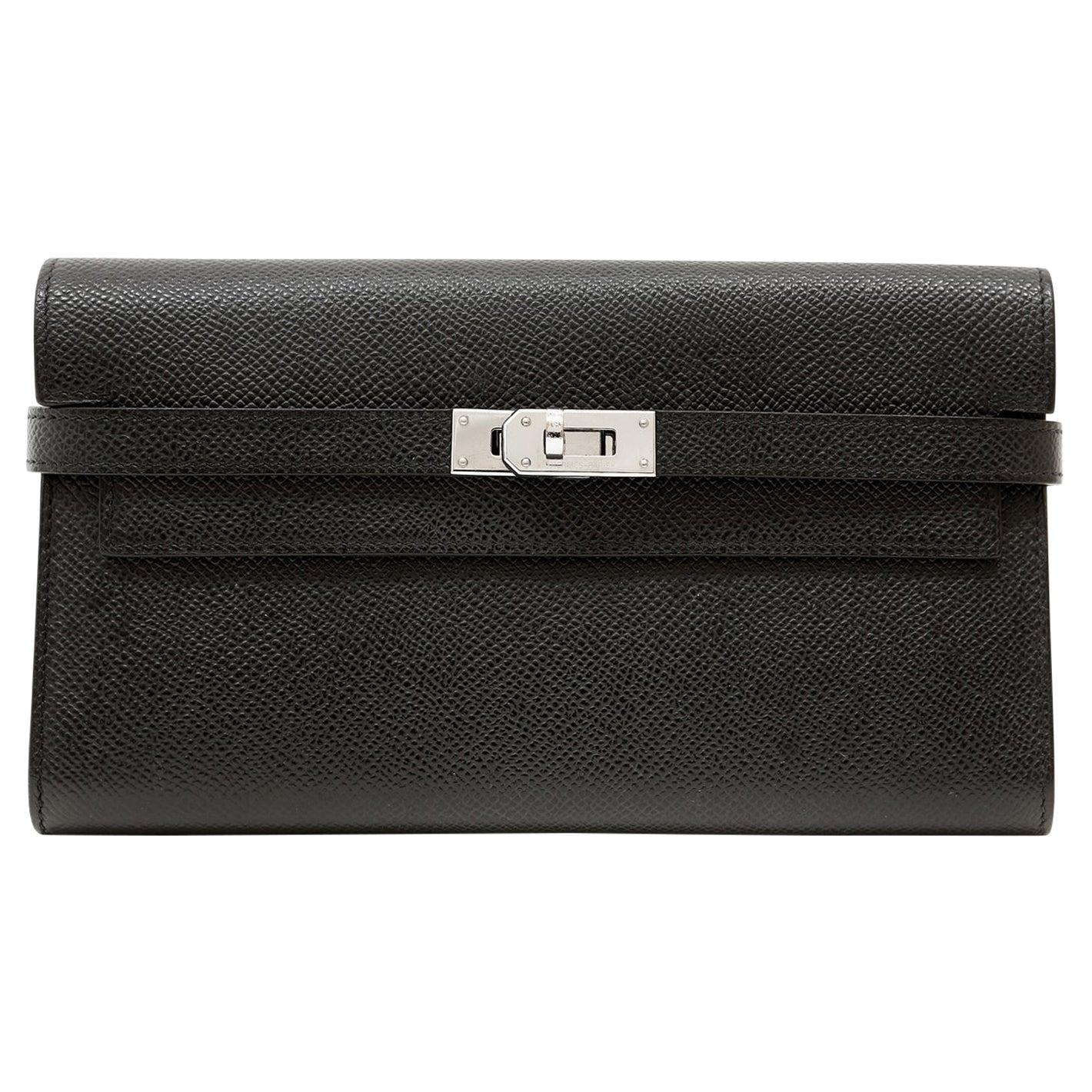 Hermès Black Epsom Kelly Wallet