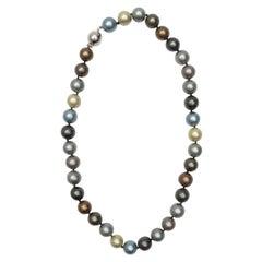 Freshwater Grey & Multicolor Pearl Choker