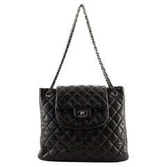Chanel Classic Flap Shopping Tote Quilted Lambskin Medium