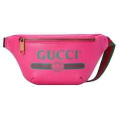 Gucci G Print Belt Bag Leather Pink