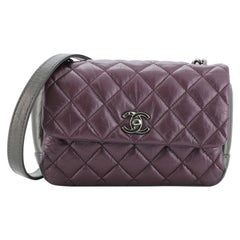Chanel Lady Pearly Flap Bag Quilted Calfskin Mini